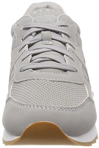 ESPRIT Damen Astro Lace Up Sneaker Grau Medium Grey kath
