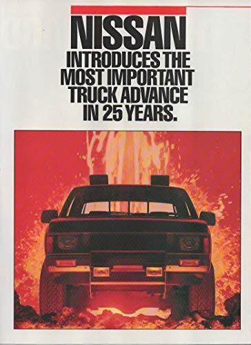 Magazine Print Ad: Red 1987 Nissan Hardbody Pickup Trucks, 4X2, 4X4, Long Bed, SE King Cab,