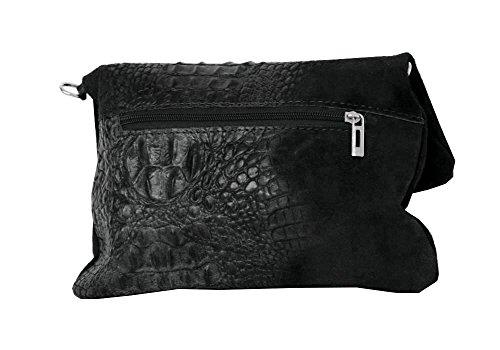 28 formel croco By Clutch Hombro Mod 4 2059 Fashion Cm 19 Bolsos Negro Al Cuero qqw7gt