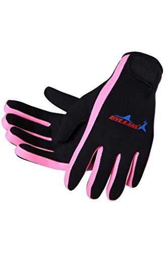 DIVE & SAIL Wetsuits 1.5 mm Premium Neoprene Gloves Scuba Diving Five Finger Glove from DIVE & SAIL