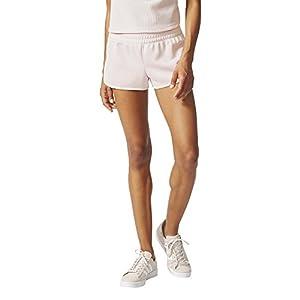 adidas Originals Women's Bottoms 3 Stripe Shorts, Icey Pink, Medium