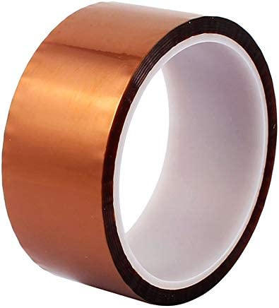 5Rolls 8mm*33m Heat Resistant Polyimide High Temperature Adhesive tape