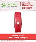 sweeper g2 - Crucial Vacuum High Capacity Red Vacuum Battery Fits Ontel Swivel Sweeper G1 & G2; Compare to Part # RU-RBG; Designed & Engineered by Crucial Vacuum