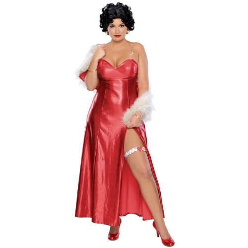 Betty Boop Halloween Costume Accessories (Secret Wishes Women's Plus Size Betty Boop Starlet Costume, Red, Plus)
