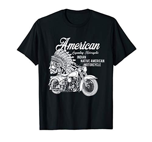 Mens Motorcycle Indian T-shirt XL Black