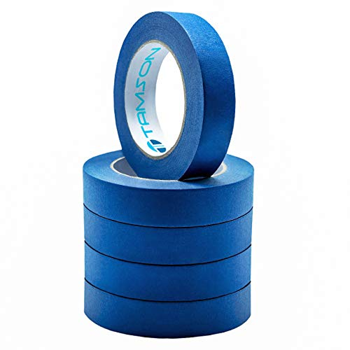 PREMIUM 1 Inch Blue Painters Tape Multi Purpose Painter Tape |  21 Day Clean Release-5 Pack (60 Yards) Masking ()