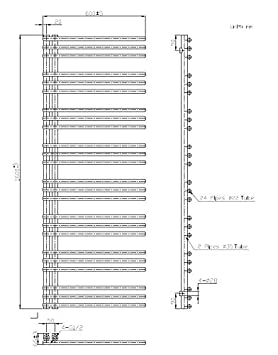 Mittelanschluss, wei/ß Badheizk/örper CANVAS in 120 x 50 cm