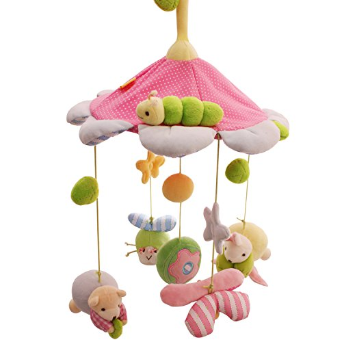 SHILOH Baby Crib Decoration 60 tunes Lullabies Plush Musical Mobile (Princess)