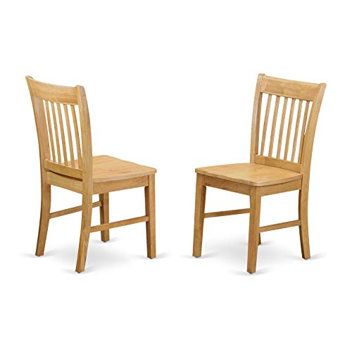 East West Furniture NFC-OAK-W Dining Chair Set with for sale  Delivered anywhere in USA