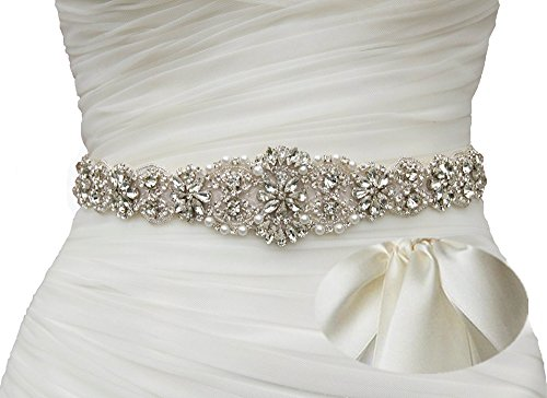 SoarDream Light Ivory Bridal Sash, Wedding Belt, Bridal Dress Belt