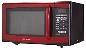 Emerson MW8999RD, 0.9 CU. FT. 900 Watt, Touch Control, Red Microwave Oven