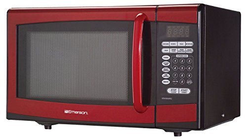 Emerson MW8999RD, 0.9 CU. FT. 900 Watt, Touch Control, Red Microwave - Microwave Emerson Mw8999rd