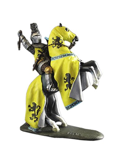 Medieval Cavalry Knight Louis De Nevers Battle Army Hand Painted Tin Metal 54mm Action Figures Toy Soldiers Size 1/32 Scale for Home Décor Accents Collectible Figurines ITEM #LDN Battle Scale Figures