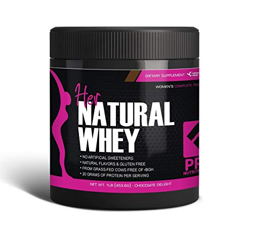 Protein Powder For Women - Her Natural Whey Protein Powder For Weight Loss & To Support Lean Muscle Mass - Low Carb - Gluten Free - rBGH Hormone Free - Naturally Sweetened with Stevia - Designed For Optimal Fat Loss (Chocolate Delight)- Net Wt. 1 LB (Best Whey Protein Shakes For Weight Loss)