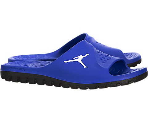 Jordan Men's Super Fly Team Slide, GAME ROYAL/WHITE-BLACK, 11 M US by Jordan