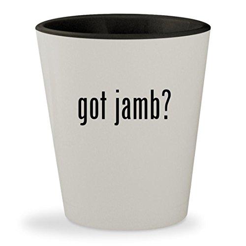 got jamb? - White Outer & Black Inner Ceramic 1.5oz Shot (Inner Weatherstrip)