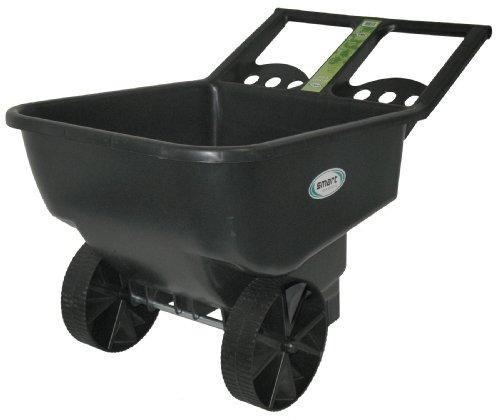 Big Rubbermaid Wheel Cart (Smart Garden SLC450 FBA_JEN-1668 Cart, Black)