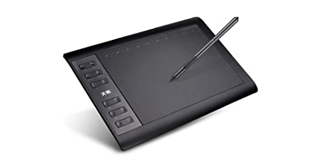 amazon com 10moons graphics tablet 10 x 6 inch large drawing