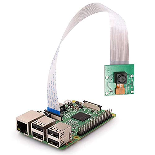 Raspberry Pi Mini Camera Video Module 5 Megapixels 1080p Sensor OV5647 Webcam for Raspberry Pi Model A/B/B+, Pi 2 and Raspberry Pi 3, 3b+ (Best Usb Webcam For Raspberry Pi)