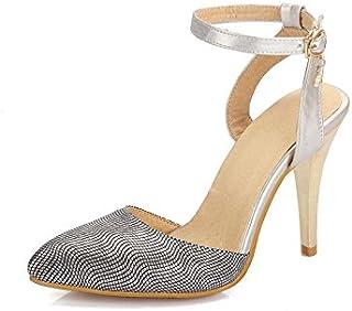 ZHZNVX Schnalle Weibliche Sandalen Spitzen Hochhackigen Feinen mit Schnalle Weiblichen Sandalen