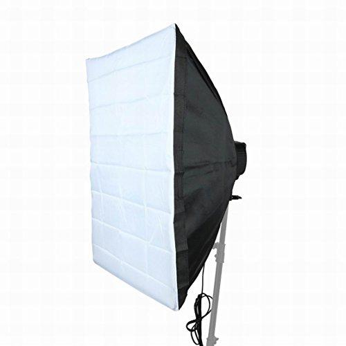 FemiaD Set Photography Equipment Kit 60cmx90cm Softbox with Five Lamp Bulb Holder 2Terminal US Plug