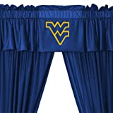 NCAA West Virginia Mountaineers - 5pc College Jersey Drapes Curtains and Valance Set