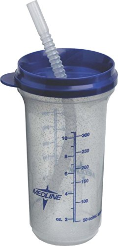 Medline DYND80552H Graduated Non-Insulated Carafes, Clear W/Blue Lid