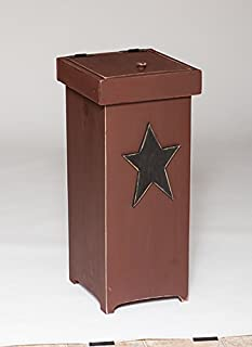 product image for Furniture Barn USA Primitive Rustic Country Style Trash/Recycle Bin- Golden Oak Stain
