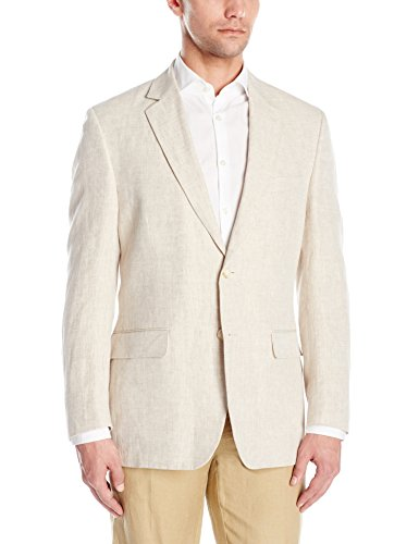 Palm Beach Men's Brock Suit Seprate Jacket, Natural Linen, 48 Long by Palm Beach