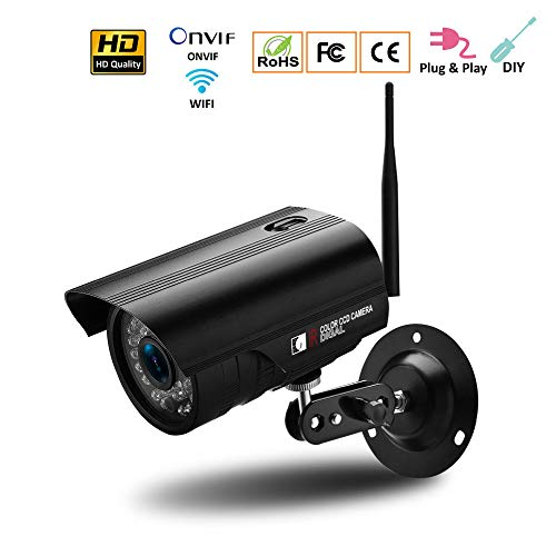 - Wireless Security Camera System P2P Monitor, 3 Different 960P HD Outdoor/Indoor WiFi Surveillance Cameras with TF Cards,960P+1.3Megapixels+16GTF