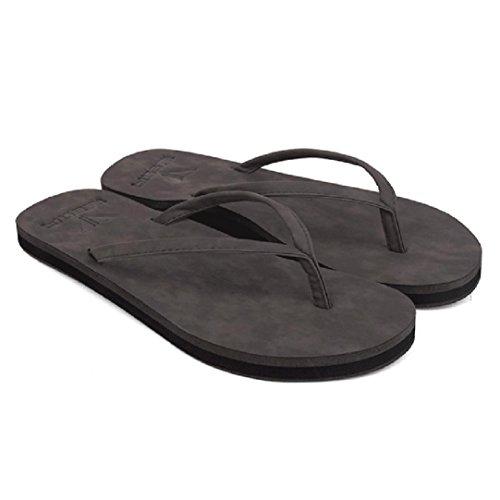 IGEMY Unisex Men's Summer Women's Flip-Flops Slippers Beach Sandals Leisure Shoes Gray pU21cnkqgn