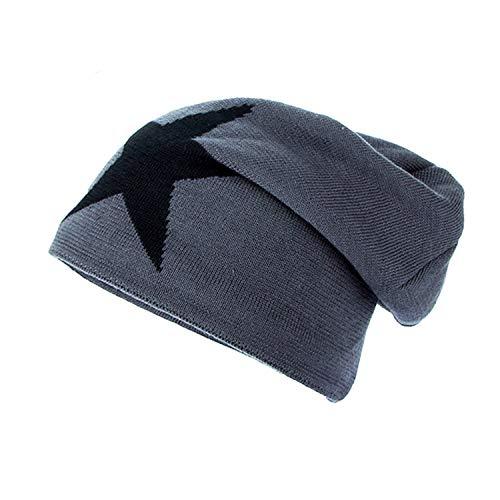 Men Winter Hat Beanie Gorro Gorros De Lana Gorras Warm Bonnet Chapeu Cap Cappelli Beanies Bonnet Masculino Grey ()