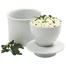 Norpro White Butter Keeper, Porcelain