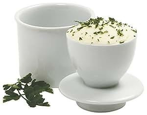 Norpro Porcelain Butter Keeper, White