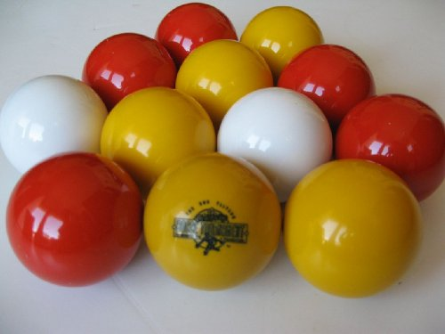 Epco Gift Pack of 12 Bocce Pallinos (Any Color) with laser engraved logo and color infill
