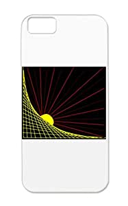 Durable TPU For Iphone 5c Sunstyle Fantasy Art Design Art Graph Sun Lines Yellow Case