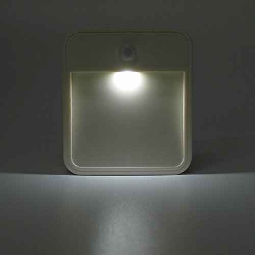Unido Attachable Motion Sensor Battery Operated LED Night Light Lamp Easy  To Stick Anywhere Stairs Walls Restrooms Kitchen (3 Pack)