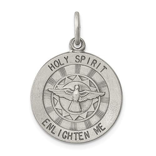 925 Sterling Silver Holy Spirit Medal Pendant Charm Necklace Religious Trinity Fine Jewelry Gifts For Women For Her