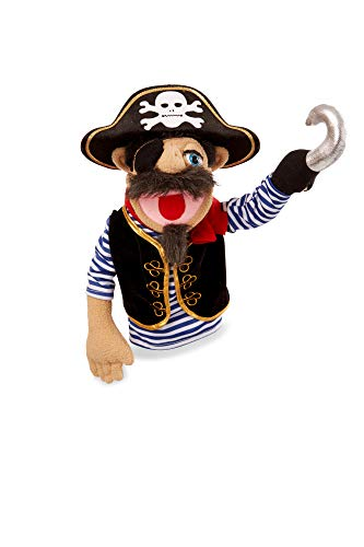 Melissa & Doug Pirate Puppet with Detachable Wooden Rod for Animated Gestures, Multicolor