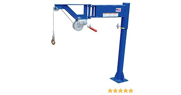 Vestil VAN-J Van Mount Manual Jib Lifter, Steel, 400 lb. Capacity, 10' Cable Length, 46-1/16