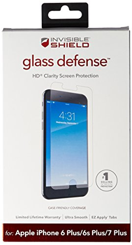 Cheap Screen Protectors ZAGG InvisibleShield Glass Defense – Screen Protector for Apple iPhone 7 Plus..