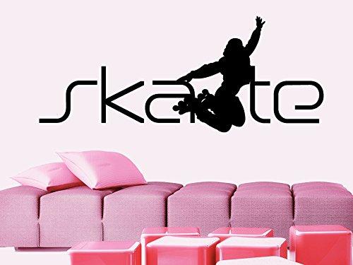 CreativeWallDecals Wall Decal Vinyl Sticker Decals Art Decor Design Word Sign Skate Roller Girl Room Jumping Sport Extrime Kids Children Dorm Bedroom (r774)