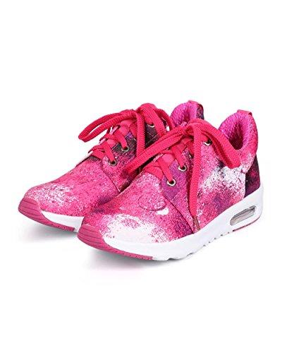 Sneakers Lilla Da Donna Con Trama In Nylon Lilla Da65 - Fucsia