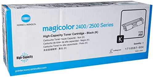 Konica Minolta 1710587-004 Magicolor 2400 2430 2450 2480 2490 2500 2530 2550 2590 Toner Cartridge (Black) in Retail Packaging