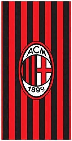 70x140 A.C Rosso-Nero Milan Telo Mare