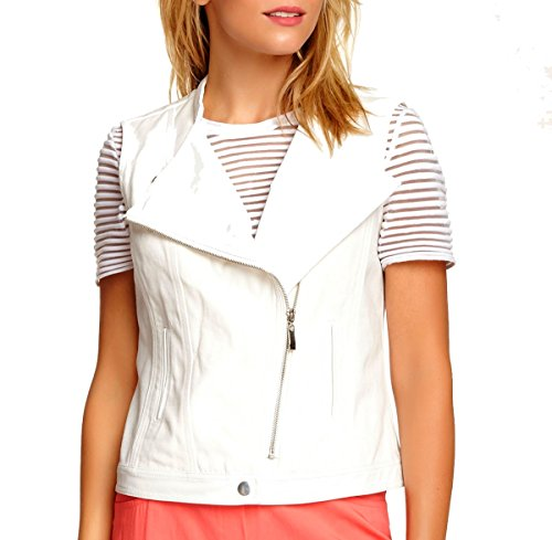 Insight Women Jeans (Insight Denim Zip Vest (White) (2))