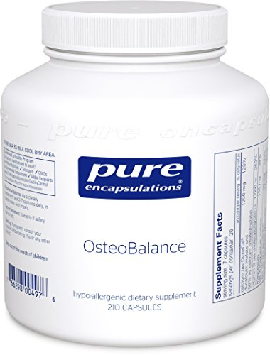 Pure Encapsulations - OsteoBalance - Hypoallergenic Supplement to Promote Calcium Absorption and Enhance Healthy Bone Mineralization* - 210 Capsules Building Bone Mass