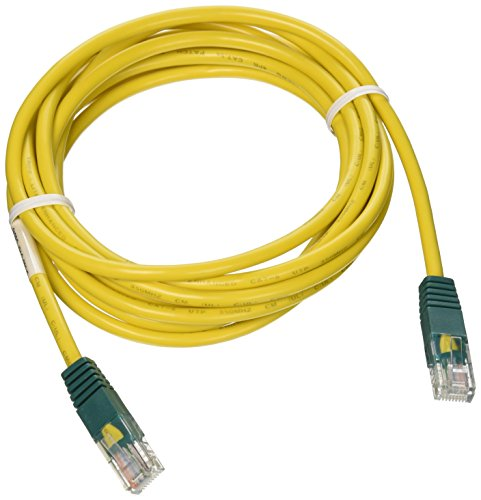 (Tripp Lite Cat5e 350MHz Molded Cross-over Patch Cable (RJ45 M/M) - Yellow, 10-ft.(N010-010-YW))