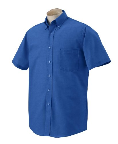 Van Heusen Men's Short Sleeve Wrinkle Resistant Oxford Shirt