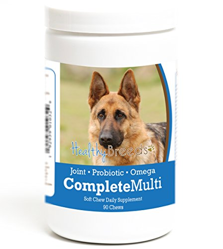 Healthy Breeds Dog All in One Multivitamin Soft Chews for German Shepherd, Brown – Over 200 Breeds – Hip & Joint Digestion Skin & Coat Vitamins – 90 Chews Review